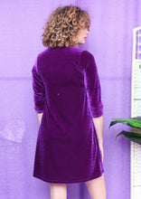 Load image into Gallery viewer, Velvet Swing Dress in Purple