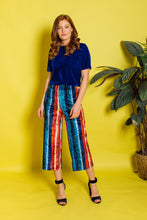 Load image into Gallery viewer, Velvet Culottes- Multi Stripe