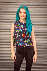 Shell Top in Russian Doll Print