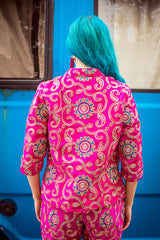 Mandarin Jacket in Pink - Jacket - Megan Crook
