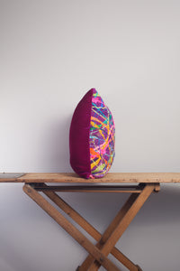 Medium Square Embellished Cushion in Magenta -  - Megan Crook