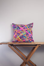 Load image into Gallery viewer, Medium Square Embellished Cushion in Magenta -  - Megan Crook