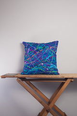 Medium Square Embellished Cushion in Royal Blue -  - Megan Crook