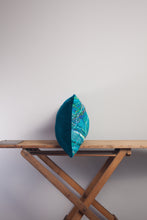 Load image into Gallery viewer, Medium Rectangle Embellished Cushion in Teal -  - Megan Crook