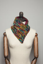 Load image into Gallery viewer, Woven Neck Wrap in Rainbow Stripe - Scarf - Megan Crook