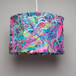 Medium Embellished Lampshade in Pink & Turquoise Mix -  - Megan Crook