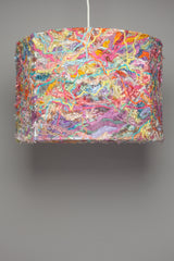 Large Embellished Lampshade in Pale Rainbow -  - Megan Crook