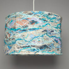 Load image into Gallery viewer, Medium Embellished Lampshade in Beach Blue -  - Megan Crook