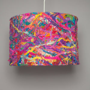 Large Embellished Lampshade in Bright Rainbow -  - Megan Crook