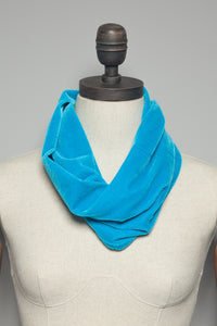 Velvet Cowl in Paradise Blue - Accessories - Megan Crook
