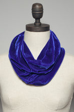 Load image into Gallery viewer, Velvet Cowl and Wrist Warmers Set in Lapis - Accessories - Megan Crook