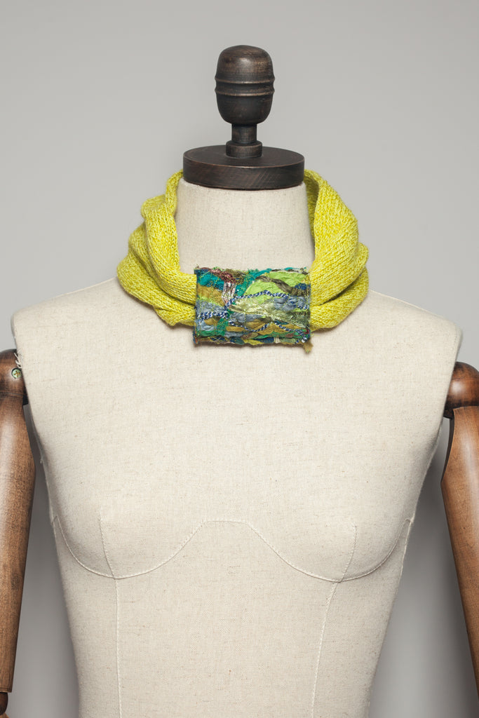 Embellished Cuff Neck Warmer / Turban in Lime