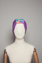 Embellished Cuff Neck Warmer / Turban in Purple