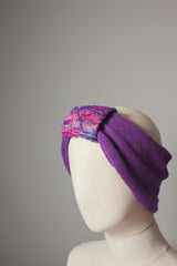 Embellished Cuff Neck Warmer / Turban in Purple - Accessories - Megan Crook
