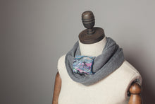 Load image into Gallery viewer, Embellished Cuff Double Wrap Scarf in Grey - Accessories - Megan Crook