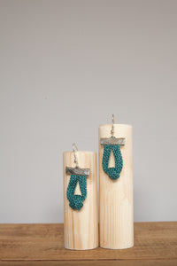 Knot Chain Earrings in Aqua - Accessories - Megan Crook