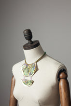 Load image into Gallery viewer, Gold Embellished Drop Necklace with Leather - Necklace - Megan Crook