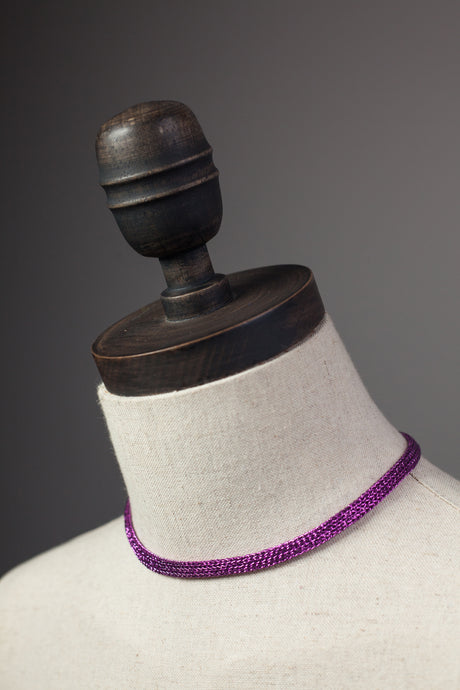 Chain Necklace in Magenta - Necklace - Megan Crook