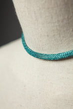 Load image into Gallery viewer, Chain Necklace in Aqua - Necklace - Megan Crook