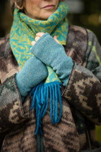 Load image into Gallery viewer, Hand Warmers in Aqua Felted Pure New Wool - Mittens - Megan Crook