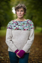 Load image into Gallery viewer, Hand Knit Jumper in Cream Alpaca and Merino Wool