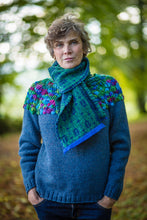Load image into Gallery viewer, Hand Knit Jumper in Denim Blue Alpaca and Merino Wool - Jumper - Megan Crook
