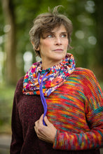 Load image into Gallery viewer, Liberty Snood in Abstract Floral Cotton Fleece - Snood - Megan Crook
