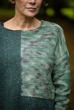 Load image into Gallery viewer, Donegal Colour Block Jumper in Forest Green Merino Wool - Jumper - Megan Crook