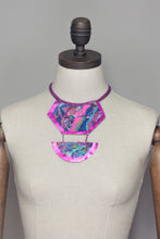 Load image into Gallery viewer, Magenta Embellished Drop Necklace - Necklace - Megan Crook