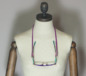 Glasses Chain in Magenta - Necklace - Megan Crook