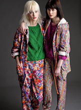 Load image into Gallery viewer, Liberty Fleece Sweatpants with Floral Pattern - Trouser - Megan Crook