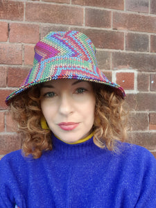 Rain Hat in Digital Chevron Print - Accessories - Megan Crook