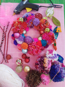 Pompom Wreath Workshop