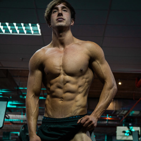Shredded Lean Physique with Built Abs and Six Pack