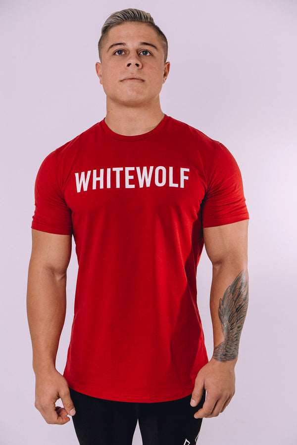 Burgundy Genesys Performance T-Shirt - WHITEWOLF
