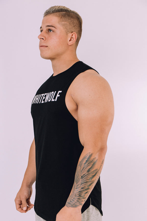 Black Performance Tank Top - WHITEWOLF
