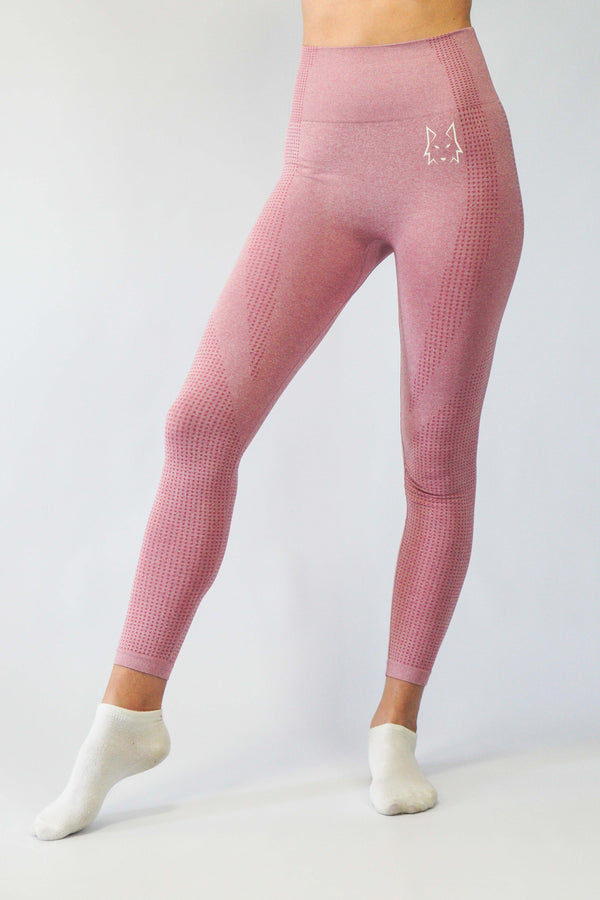 Aspire Dusty Pink Seamless Leggings - WHITEWOLF