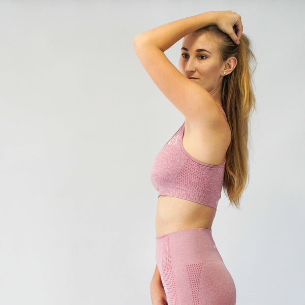 Aspire Dusty Pink Seamless Sports Bra - WHITEWOLF