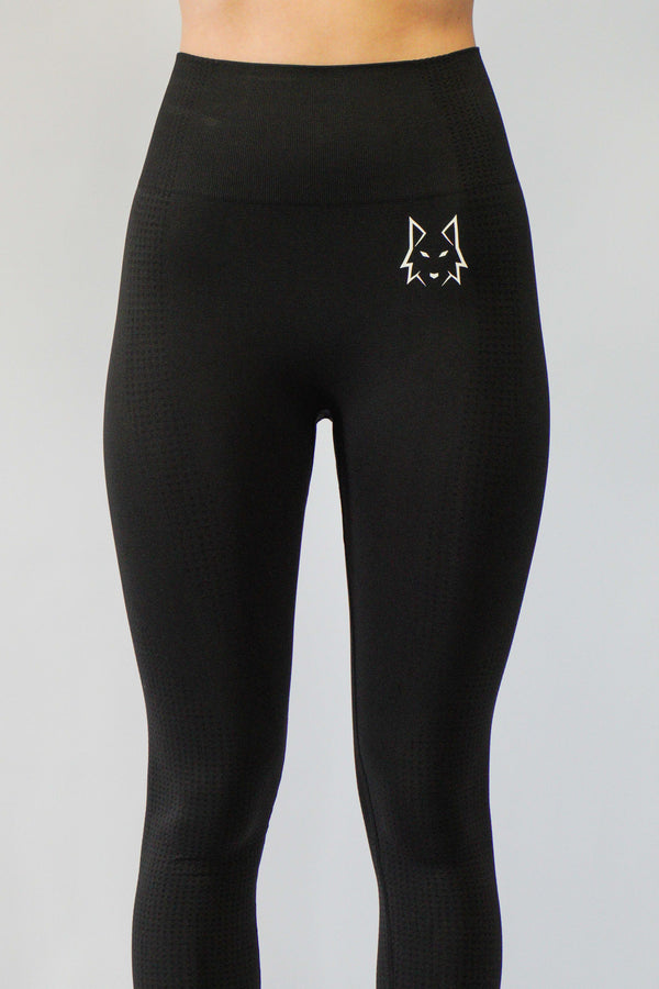 Aspire Black Seamless Leggings - WHITEWOLF