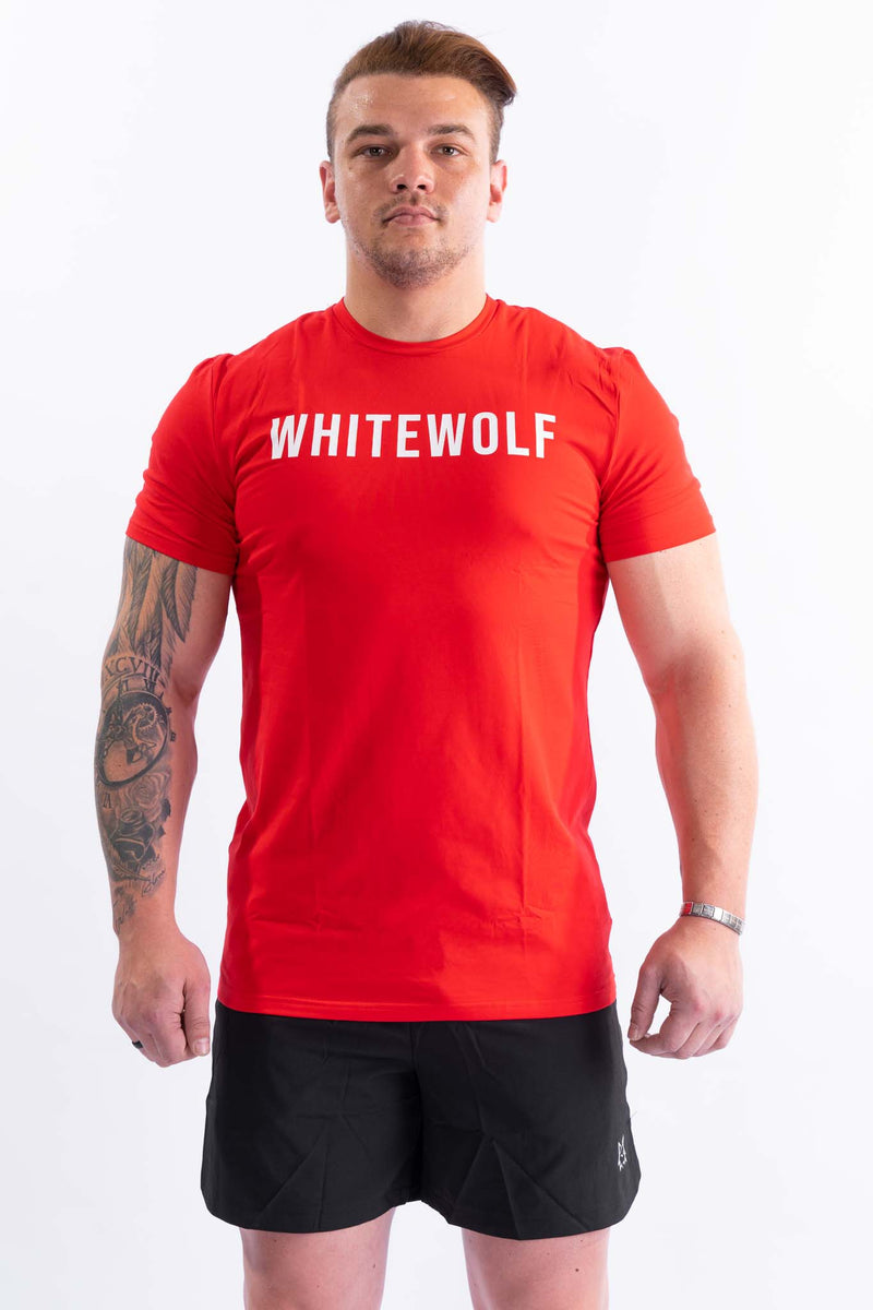 Premium Red Performance T-Shirt - WHITEWOLF