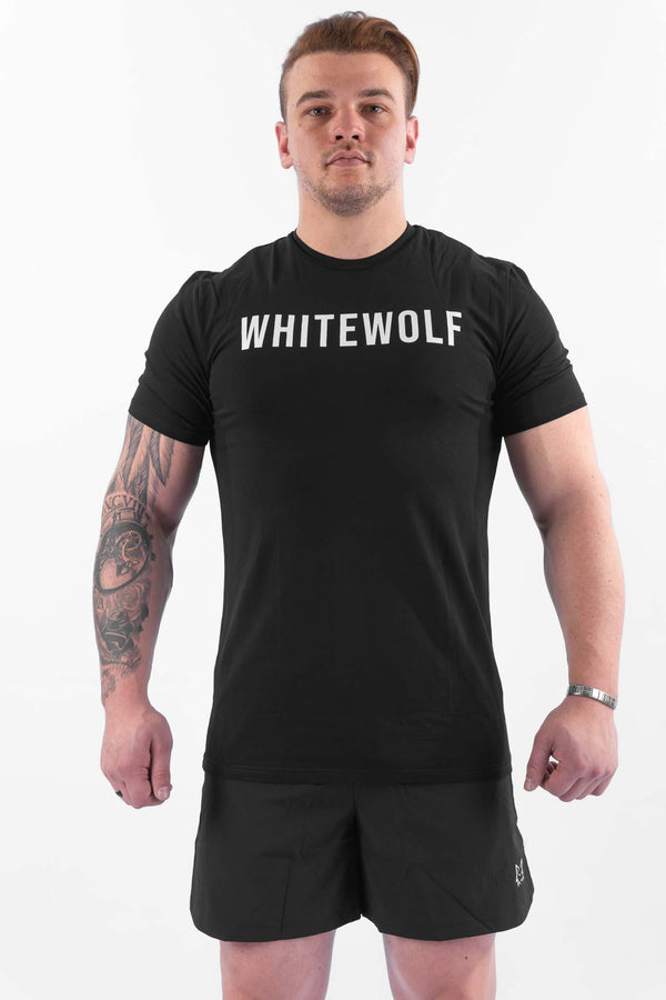 Premium Black Performance T-Shirt - WHITEWOLF