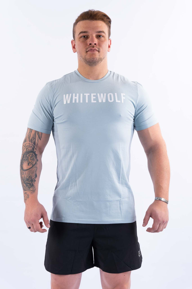 Premium Baby Blue Performance T-Shirt - WHITEWOLF