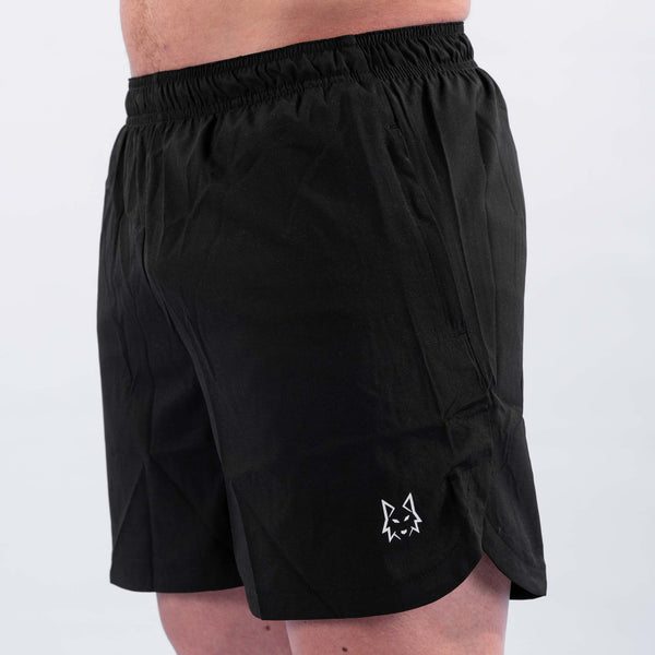 Premium Black Performance Shorts - WHITEWOLF