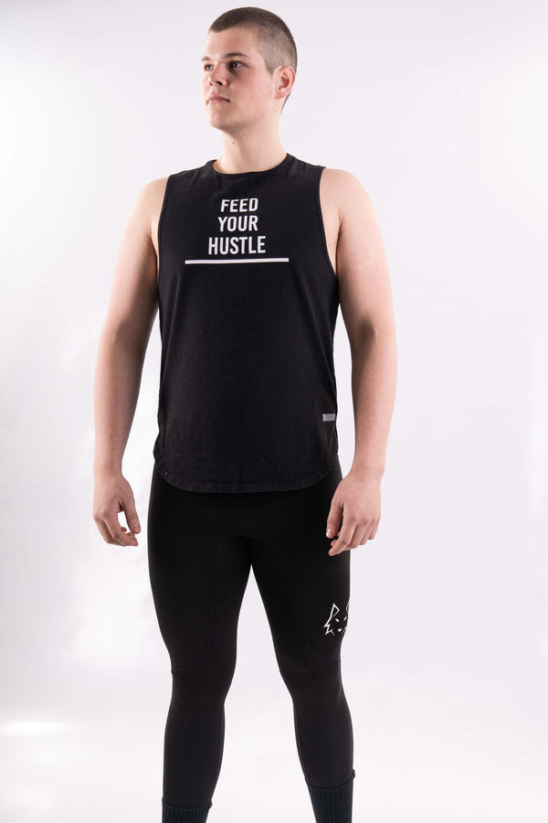 Black Feed Your Hustle Tank Top - WHITEWOLF
