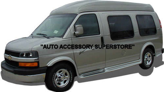 "2003-2021 GMC Savanna Van (135"" Wheelbase) Running Boards (FullFlare Style) - Ronusa.com"