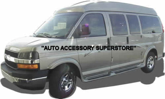 "2003-2021 GMC Savanna Van (6 Door) (135"" Wheelbase) Running Boards (FullFlare Style) - Ronusa.com"