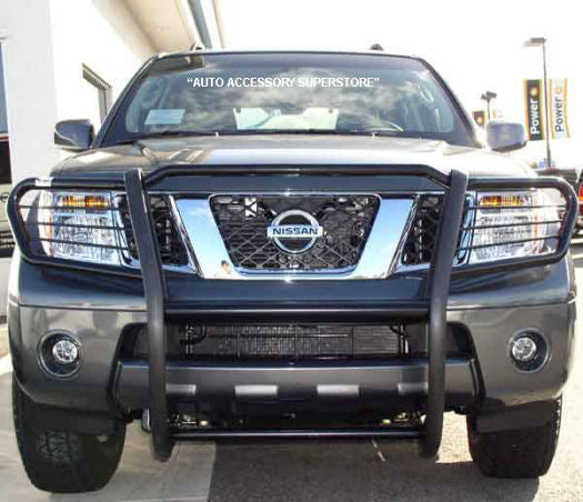 Nissan Frontier Grille Guard: Black Version