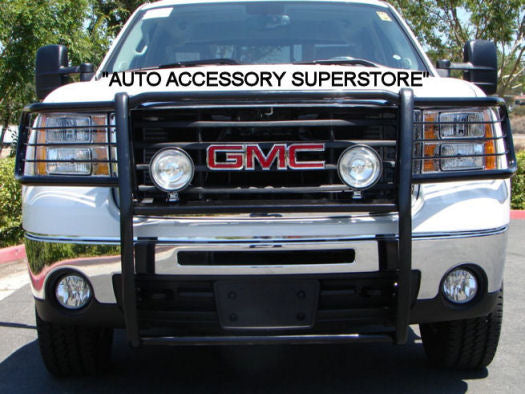 2007-2013 GMC Sierra Grille Guard: Black Version