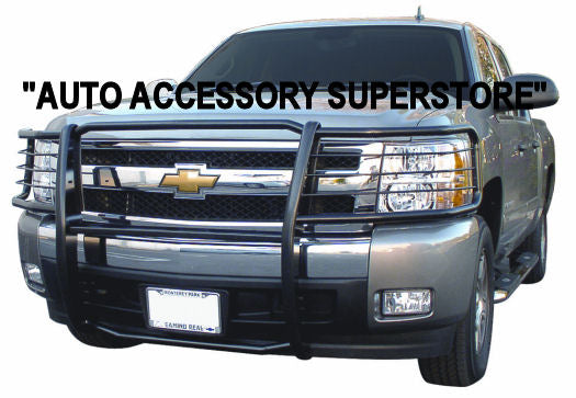 2007-2013 Chevy Silverado Grille Guard: Black Version