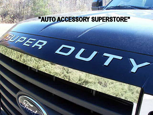 "2008-2016 Ford SuperDuty Chrome Hood ""LETTERS"" Only - Ronusa.com"